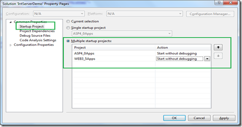 Different Versions of Integrated Web Server in Visual Studio 2010
