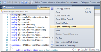 Use Shortcut or Context Menu for