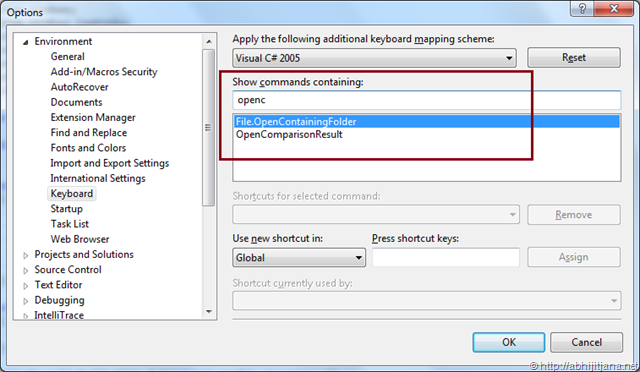 """Use Shortcut or Context Menu for """"Open Containing Folder"""" in"""