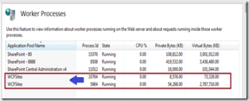 How to use IIS Manager to get Worker Processes (w3wp exe