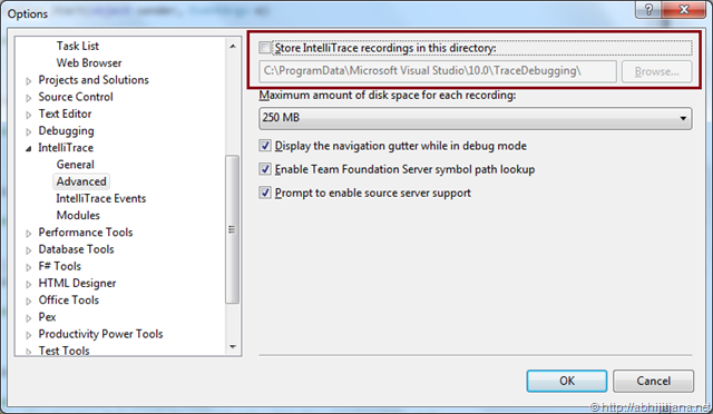 New Features of IntelliTrace Debugging in Visual Studio 2010