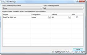 Debugging 64 bit application using IntelliTrace – Visual