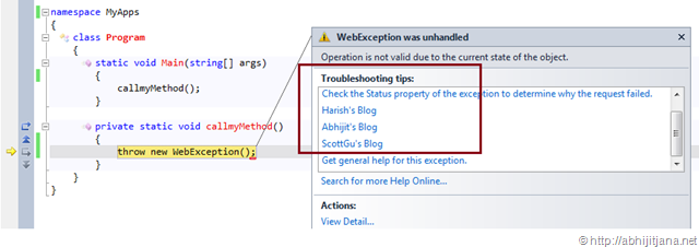 How to write custom exception class in net
