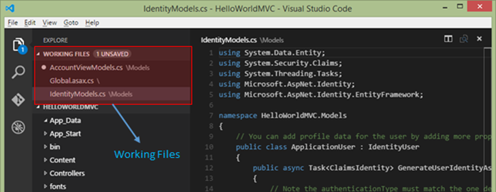 Working Files in VSCode