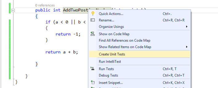 Create Unit Tests