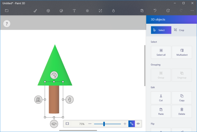 3D Tree Model in Paint 3D